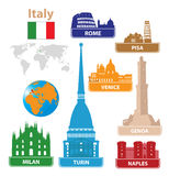 Italy. Silhouettes city Royalty Free Stock Image