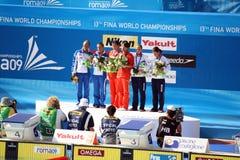 ITALY SILVER awarding 3mt women dive Stock Photos
