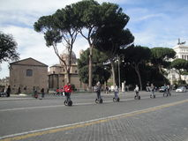 Italy, The sithseeing of Rome with segway Stock Photos