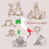 Italy Sketches Stock Image