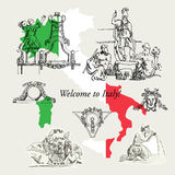 Italy Sketches Royalty Free Stock Photography