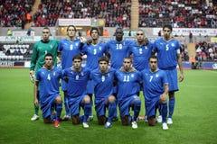 Italy sob a equipa de futebol 21 Foto de Stock Royalty Free