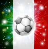 Italy soccer flag Royalty Free Stock Images
