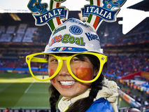 Italy Soccer Supporter - FIFA WC Stock Images