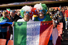 Italy Soccer Supporters - FIFA WC Stock Image