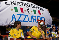 Italy Soccer Supporters - FIFA WC Stock Photos