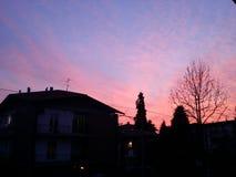 italy solnedgång Arkivbilder