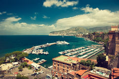Italy, Sorrento. Sorrento place , Italy,cliff and beach Stock Photo