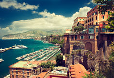 Italy, Sorrento. Sorrento place , Italy,cliff and beach Royalty Free Stock Images
