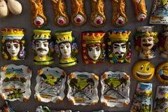 Italy Souvenir sicily. Little souvenir in ceramics in scicli sicily Italy royalty free stock photos