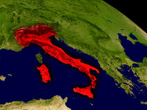 Italy from space Stock Image