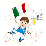 Italy Sport Fan Stock Image