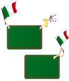 Italy Sport Message Frame with Flag. Vector - Italy Sport Message Frame with Flag. Set of Two vector illustration
