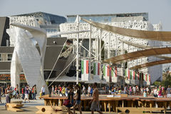 Italy square view , EXPO 2015 Milan Royalty Free Stock Photo