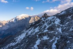 Italy, Stelvio National Park. Famous road to Stelvio Pass in Ortler Alps stock photos