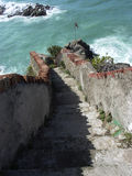 Italy Stone stairway to ocean Cinque Terre Royalty Free Stock Photography
