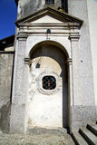 Italy  sumirago church  varese   entrance and mosaic   daY Royalty Free Stock Images