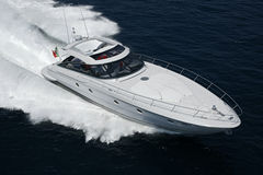 Italy, Tirrenian sea, Baia Aqua 54' luxury yacht Stock Photos
