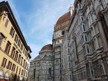 Italy, Florence. Piazza del Duomo and Cathedral Santa Maria del Fiore Royalty Free Stock Photos