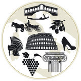 Italy Tourism. Italy land for tourism and symbols Royalty Free Stock Image