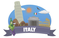 Italy. Tourism and travel royalty free illustration