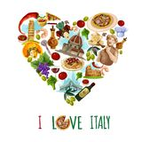 Italy Touristic Poster Stock Photos