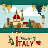 Italy Touristic Poster Royalty Free Stock Images