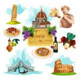 Italy Touristic Set Royalty Free Stock Photos