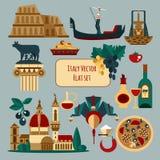 Italy Touristic Set royalty free illustration