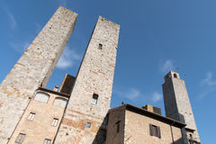 Italy, Towers of San Gimignano Stock Photo