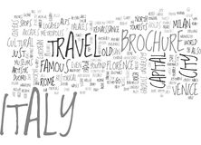 Italy Travel Brochure Word Cloud Concept Royalty Free Stock Image
