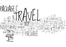 Italy Travel Packages Word Cloud Concept Royalty Free Stock Image