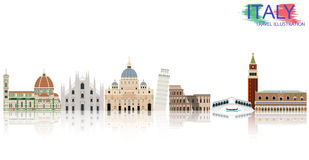 Italy  vector illustration Stock Photography