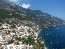 Italy. Travel to Italy on the Amalfi Coast.  This is a view of Positano. Vacation all year or stay awhile Stock Image