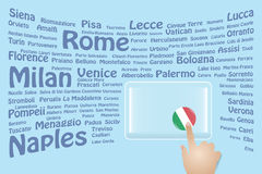 Italy Travel Touch Screen Royalty Free Stock Photo