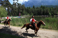Italy,Trentino Alto Adige,. Italy, Trentino Alto Adige, Siusi allo Sciliar Dolomites, trekking on the plateau of the Sciliar in the spring stock photography
