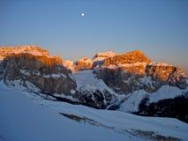 Italy, Trentino, dolomites at dusk, Stock Images
