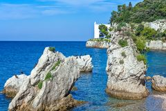 Trieste, the architectures and arts. Italy, Trieste, the Miramare marine reserve Stock Photography