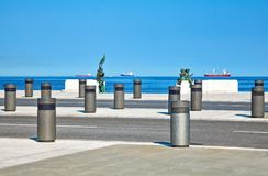 Trieste, the architectures and arts. Italy, Trieste, the Riva Caduti Per l`Italia seafront Stock Photography