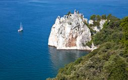 Trieste, the architectures and arts. Italy, Trieste,view on the sea from the Duino castle Stock Image