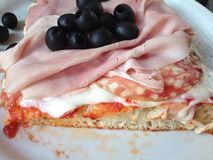Italy trip pizza cafe. Restaurant olive balyk Royalty Free Stock Photo