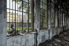 Italy - Turin - ex factory. Turin - The ex factory FIAT big motors royalty free stock photos