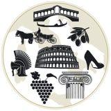 italy turism vektor illustrationer