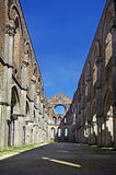Italy,Tuscan,abbey of San Galgano Stock Image