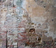 Italy Tuscan Stucco and Broken Brick Stock Photos
