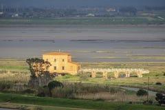 Italy, Tuscany, Castiglione della Pescaia, view of the Diaccia Botrona nature reserve from above. Tuscany, Castiglione della Pescaia, view of the Diaccia Botrona stock images