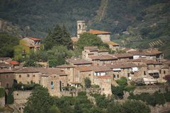 Italy, Tuscany, Chianti zone, Montefioralle village. Italy, Tuscany, Chianti zone, Montefioralle village, the old house and country royalty free stock photography