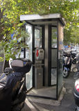 Italy, Tuscany, city of Florence. Telephone booths Royalty Free Stock Images