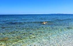 Italy, Tuscany: Elba Island sea. Italy, Tuscany: The wonderful sea of Sottobomba beach in Elba Island stock photography