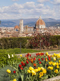 Italy,Tuscany,Florence. Italy,Florence,the cirty, cathedral and Giotto tower,view fro Michelangelo square royalty free stock image